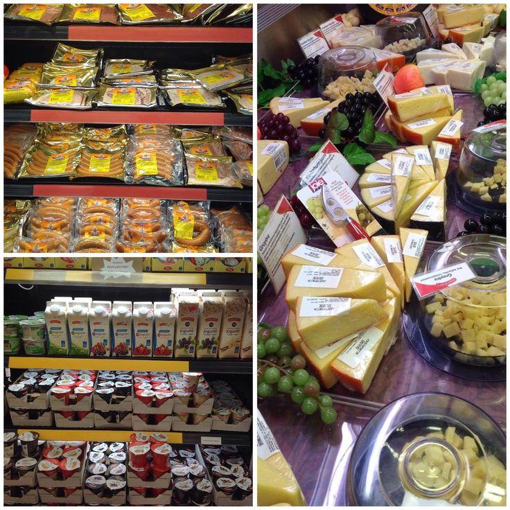 Herkkuaitan herkkuja  Juustoportin juustoja sekä jogurtteja. Wotkinsin lihaisat makkarat ja leikkeleet. Juustohyllystä löytyy myös mm. halloumia, vuohenjuustoa, raclette- sekä fonduejuustoja. Tervetuloa hakemaan herkut viikonloppuun!