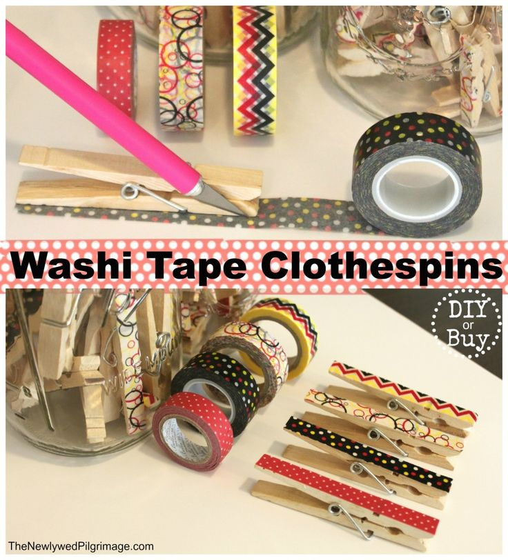Washi Tape Clothespins DIY Tutorial - The Newlywed Pilgrimage