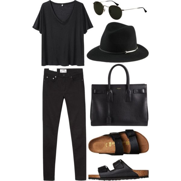 Untitled #1165 by victoriaxo97 on Polyvore featuring R13, Acne Studios, Birkenstock, Yves Saint Laurent and Ray-Ban