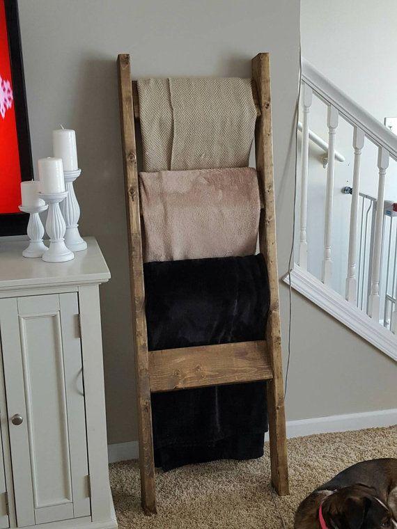 Blanket ladder Towel ladder Quilt ladder Nursery by LakelandDecors