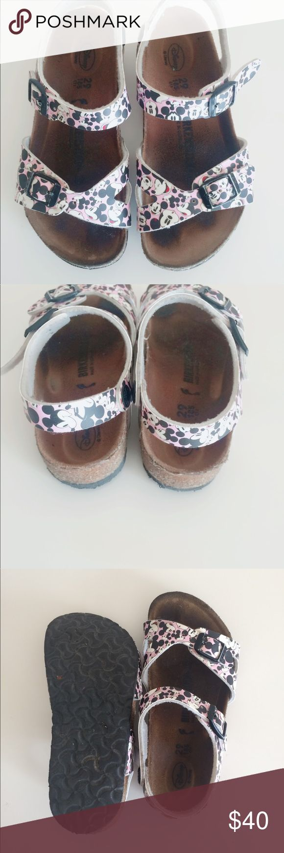 Disney Birkenstock for kids. Cute limited edition Mickey Minnie Mouse in the style rio.  They have been worn by my little one but since outgrown them. Birkenstock Shoes Sandals & Flip Flops