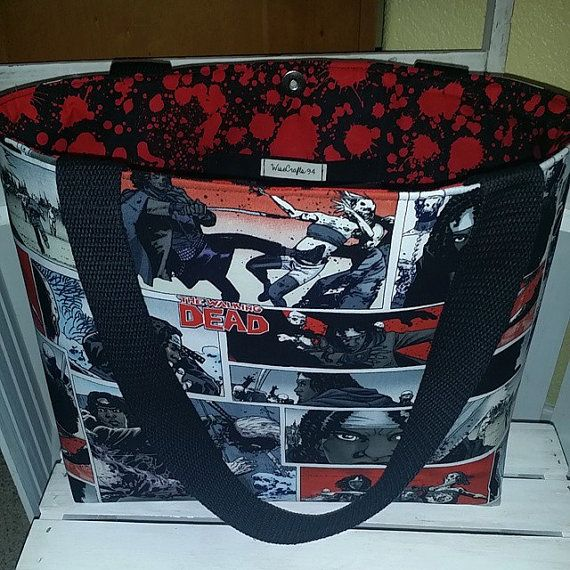 The Walking Dead  Michonne Comic Strip Bag, Tote or Purse with Blood Splats