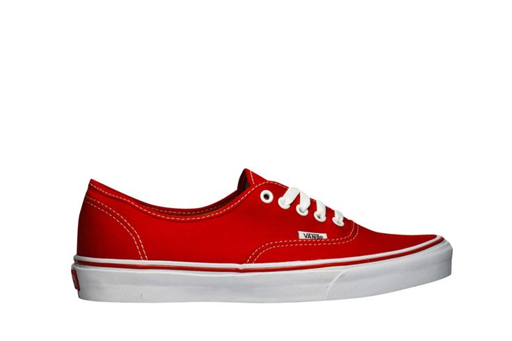 Pictures of Vans Authentic Red