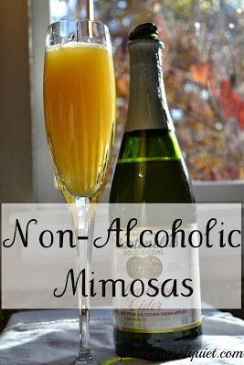Non-Alcoholic Mimosas -- delicious, fun drinks for kids (or grown-ups who don't want the champagne!)