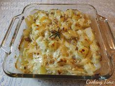 Cavolo cappuccio gratinato con patate e cipolla