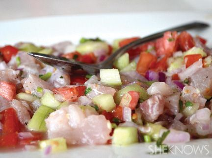 Fresh fish ceviche tex mex fiesta pinterest for Fish for ceviche