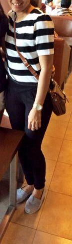 Big stripe mini top Black hi waist legging