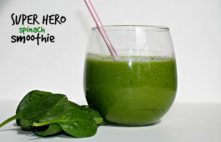 Super Hero Spinach Smoothie | Drinks: Smoothie Time! | Pinterest