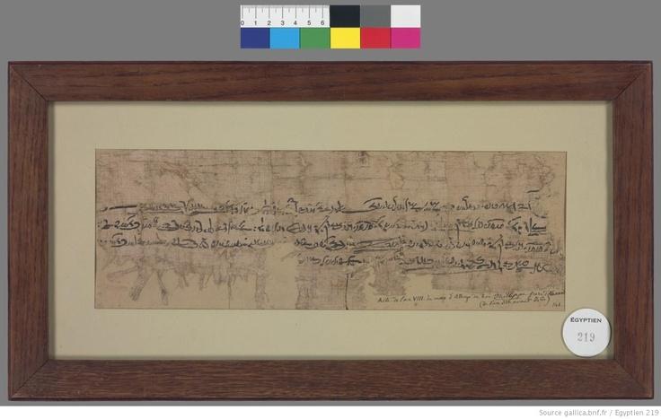 Contrat démotique (Contrat de mariage). Papyrus daté du mois d'Athyr de l'an VIII du règne de Philippe Arrhidée (janv-février 316 av. J.-C). Gallica © Bibliothèque nationale de France