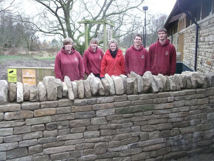 Our apprentices complete the stone wall around the bike wash at our Sutton Bank National Park Centre - great work! #madebyapprentices #NAW2014