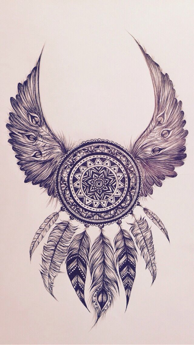 Dreamcatcher with wings                                                                                                                                                                                 More