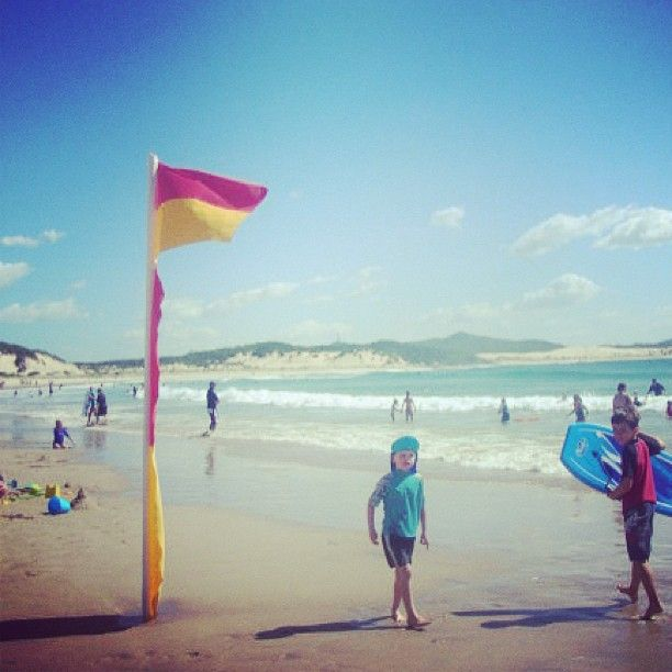 Swimming between the flags at One Mile Beach in the beautiful Port Stephens. #travelyourway http://instagram.com/p/YwmwOzx6Ip/