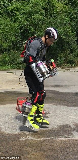 A British inventor has built a functioning Iron Man flight suit with miniaturised jet engines and a specially designed exo-skeletal suit to reimagine the future of flying