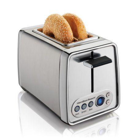 Hamilton Beach 2 Slice Modern Toaster with Digital Display , Model# 22792, Silver