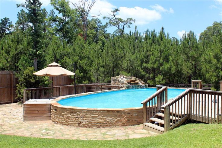 Above Ground Pool And Fire Pit Design Large 48 X 18 By