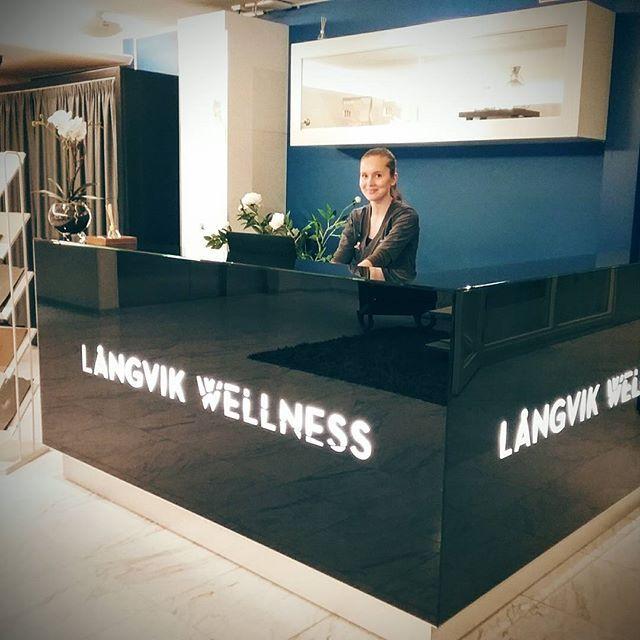 #wellness #spa #reception #comfortzone #happy to serve you #långvik #langvikhotel http://www.langvik.fi/