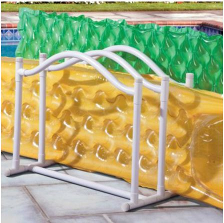 16 Genius Pool Hacks That Will MAKE Your Summer   Don't just let your pool toys sit around the yard and around the pool. If you don't already, buy or build a pool toy storage area for pool noodles, floaties, towels, etc. This will make your pool look much more presentable all summer long.