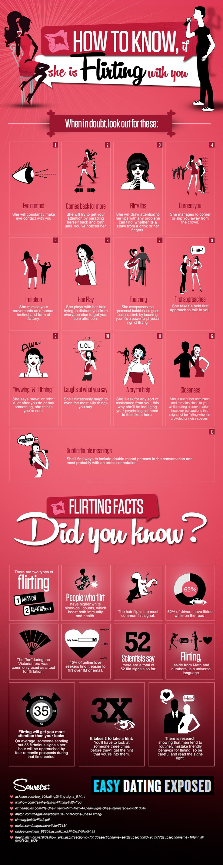 How to know if she flirting with you...?