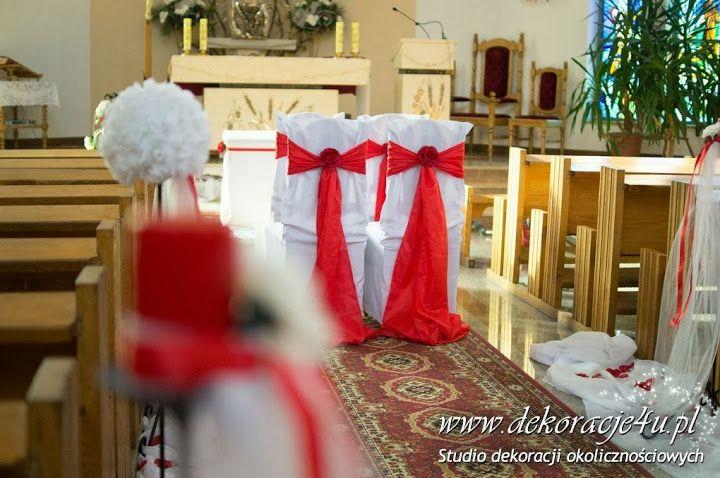 Delikatna dekoracja kościoła - www.dekoracje4u.pl