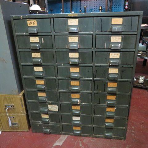 Vintage antique industrial multi drawer steel #cabinet