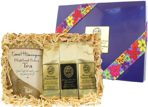 Coffee and Tea Gift of Kona Hawaiian Coffee and Tropical Tea, for Christmas and All Occasions, Ground Coffee, Brews 40 Cups - http://goodvibeorganics.com/coffee-and-tea-gift-of-kona-hawaiian-coffee-and-tropical-tea-for-christmas-and-all-occasions-ground-coffee-brews-40-cups/