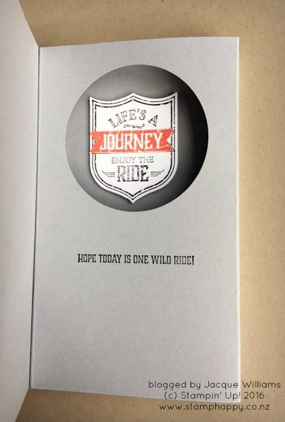 stampin up one wild ride pop up window card
