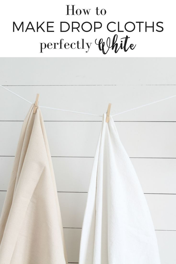 How to make drop cloths perfectly soft and white for DIY slipcovers, curtains, pillows and upholstery projects.