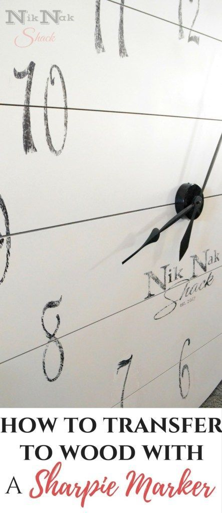 DIY Home Decor - Transfer graphics to Wood with a Sharpie Marker!