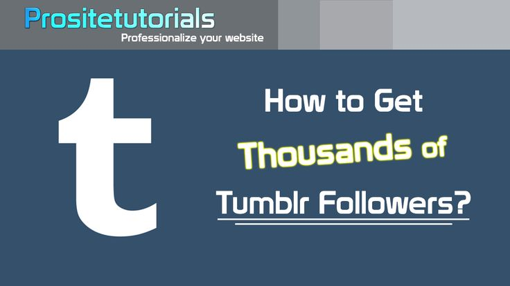 Discover how to get more Tumblr followers with a super simply technique. Check here: https://www.youtube.com/watch?v=swDOpWDaUtw