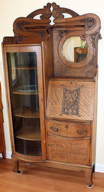 21 Best Images About Antique Secretaries On Pinterest Antiques Hutch Cabinet And Oak Dresser