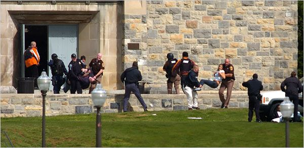 At least 33 people were killed on the campus of Virginia Tech today in what appears to be the deadliest shooting rampage in United States history. Many of the victims were students.