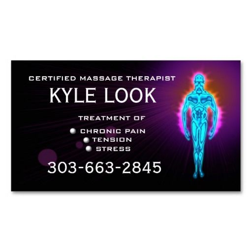 17 Best images about Business Cards Massage Therapy on