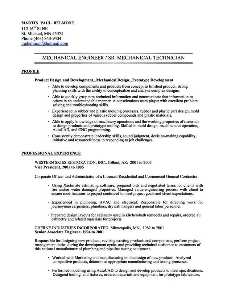 Resume Mechanical Engineering #554 - http://topresume.info/2014/11/19/resume-mechanical-engineering-554/