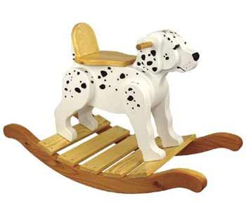 19-W3248 - Dalmation Rocker Woodworking Plan.