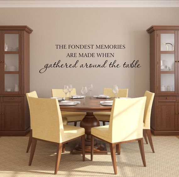 Family Vinyl Wall Decal - Fondest Memories Are Made When Gathered Around The Table Kitchen Wall Quote Saying Home Wall Decal 10Hx36W FS309
