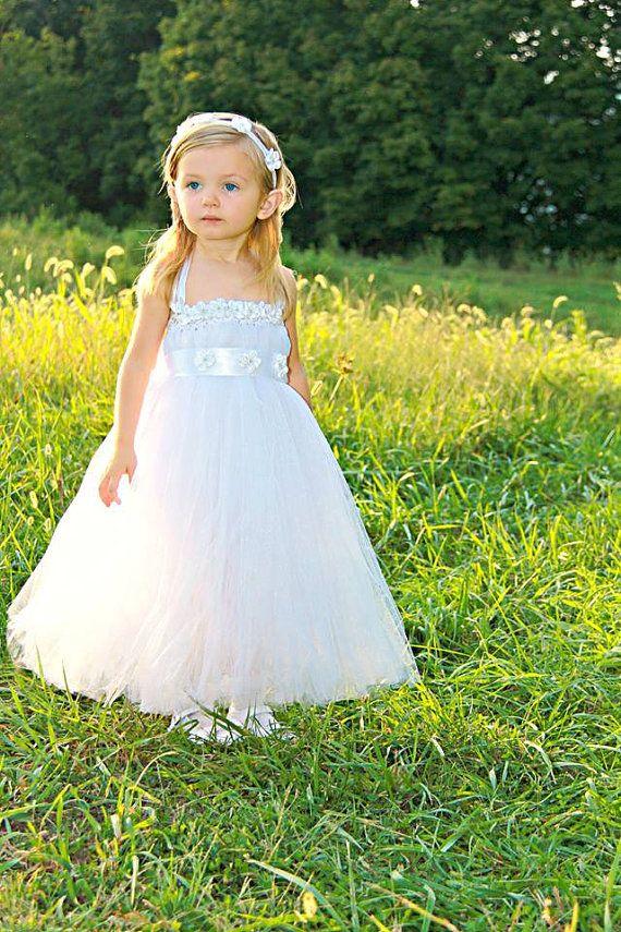Headband Tulle Flower Girl Dresses