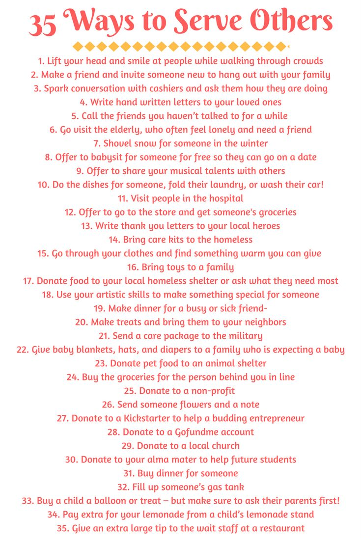 34 great ways to spread kindness and serve others any day of the year! Some of these are free and some require a little money or a donation, so there really is something for everyone to do to help others be happy!