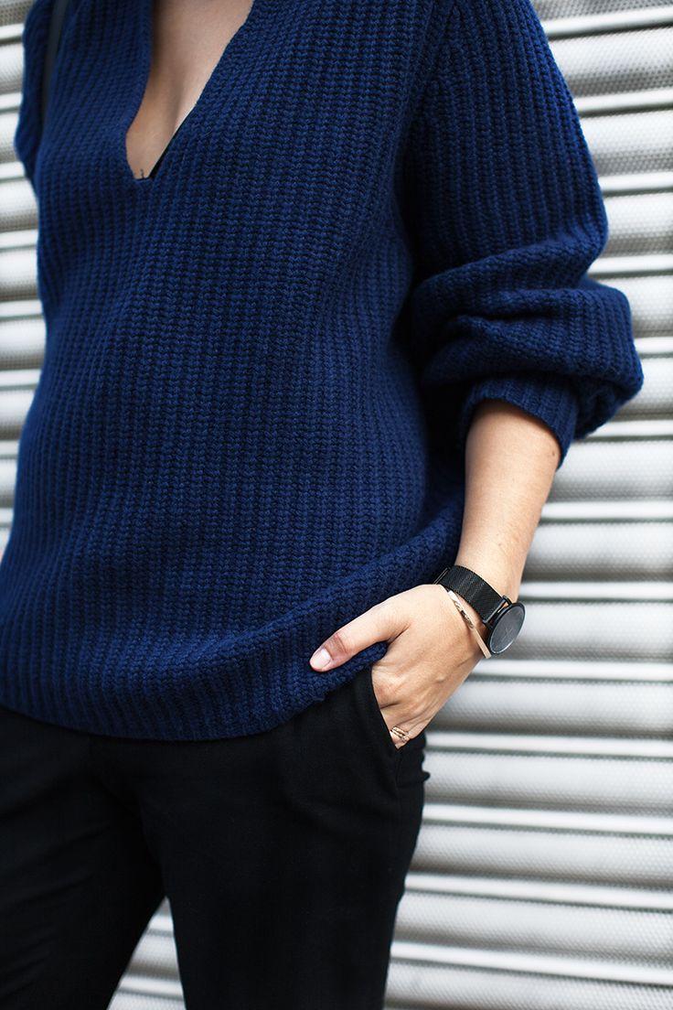 v neck sweater inspiration post