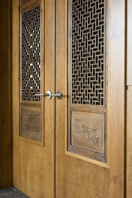 geometrical and intricate, yet simple and classy door