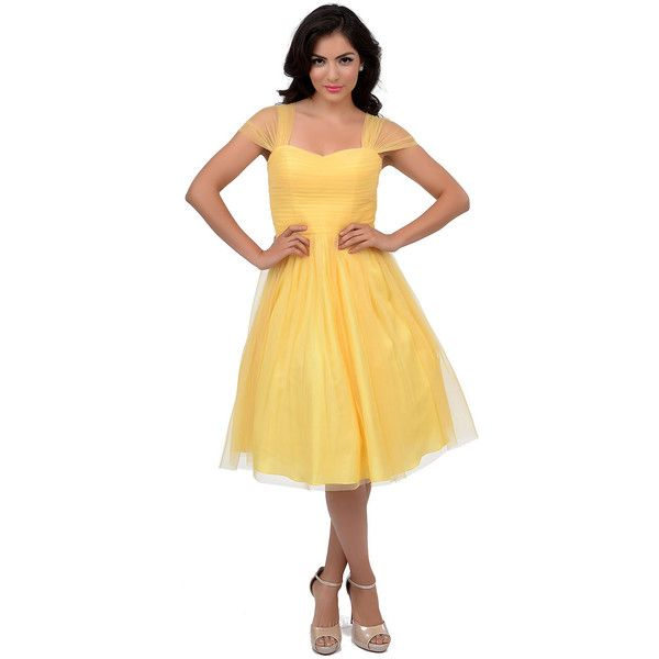 25  best ideas about Yellow cocktail dresses on Pinterest | Yellow ...