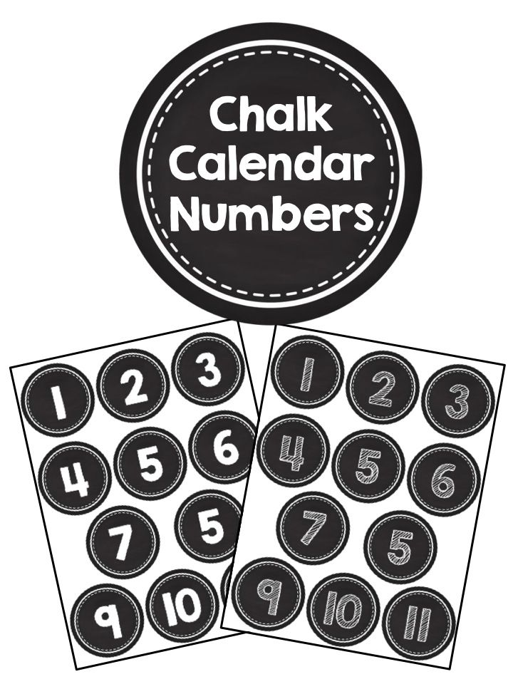 Calendar Numbers Clipart : Best images about chalkboard classroom on pinterest