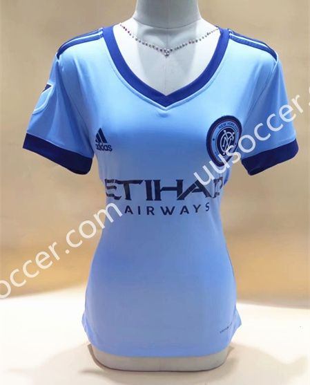 2017-18 New York City FC Home Blue Thailand Female Soccer Jersey AAA