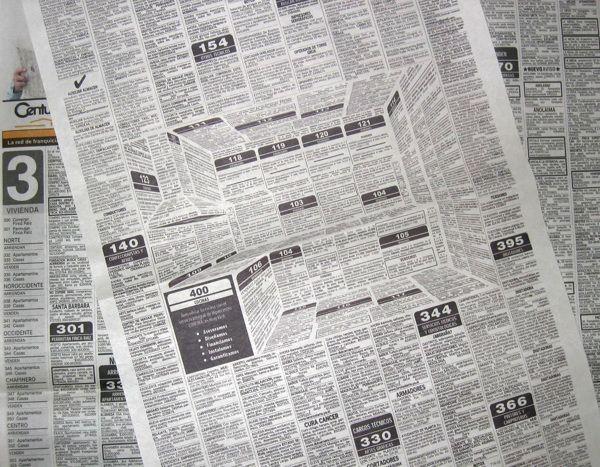 思わず目に留まる、立体的な3D新聞広告 | Fashionsnap.com