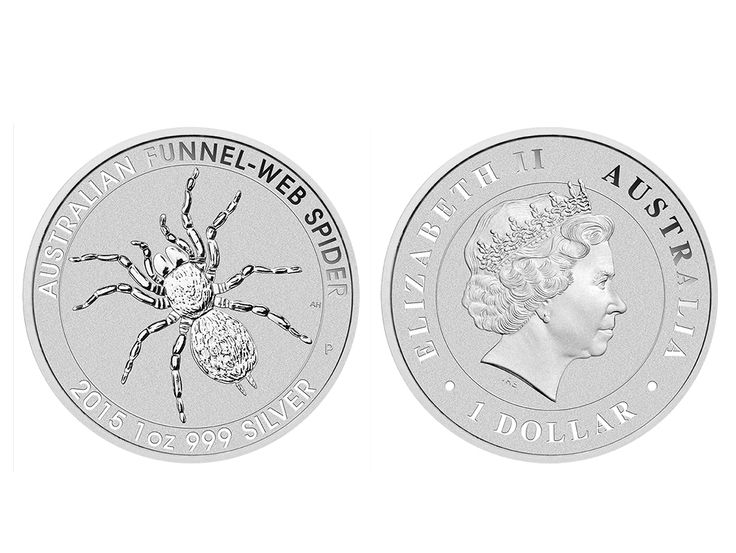 The Perth Mint has released the 2015 1 ounce silver Australian Funnel Web coin. Featuring the sprawled legs and hairy body of one of Australia's deadliest spiders, this coin is issued as legal tender under the Australian Currency Act 1965. #abcbullion #silver #minted #coin #australian #funnelwebspider #pallion