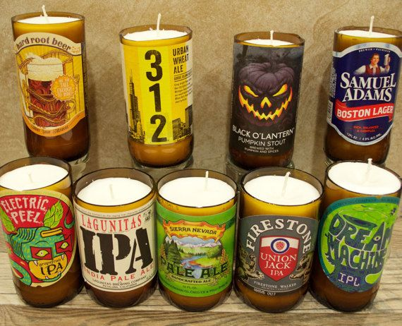 Specialty Beer Bottle Candles by IVandCo on Etsy