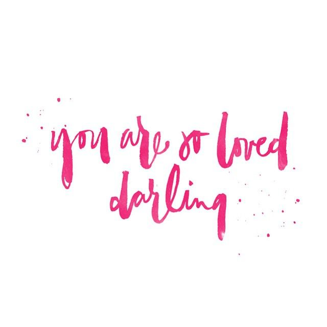 Computer Wallpaper Quotes: You Are So Loved, Darling. Desktop Wallpaper Download