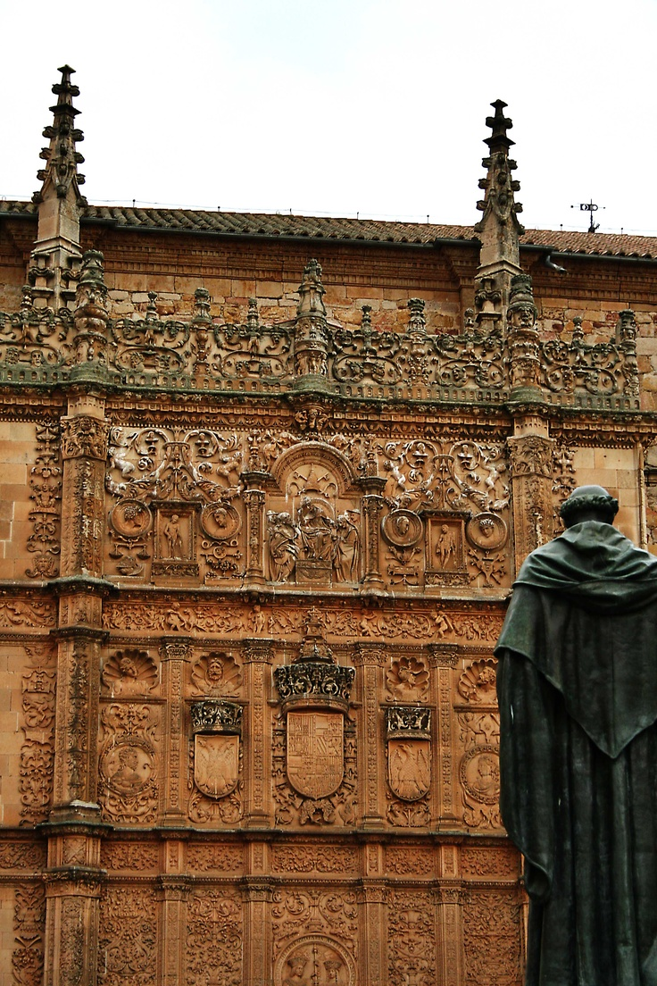 Fachada de la Universidad de Salamanca. Un gran lugar para degustar un #CienPorCienIberico