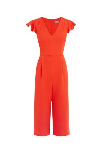 40b702926c89 Oasis, FRILL SLEEVE JUMPSUIT Bright Orange   S H A P E S   Jumpsuit ...