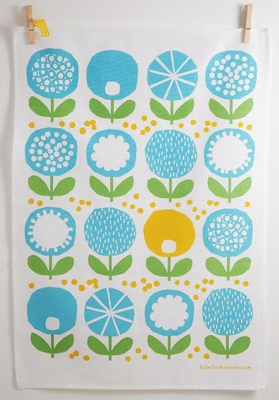 by Kate Clarke http://www.kateclarkelondon.com Thanks @modflowers! Yes apparently I do care about tea towels. Not that I enjoy using them.
