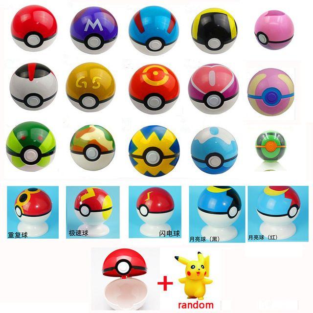 """20 צבעים קלאסיים 7 ס""""מ כדור נקבו כל Pokeball + 1 יחידות משלוח אקראי צעצועי פעולה איור יפן אנימה ליל כל הקדושים חג המולד מתנה"""
